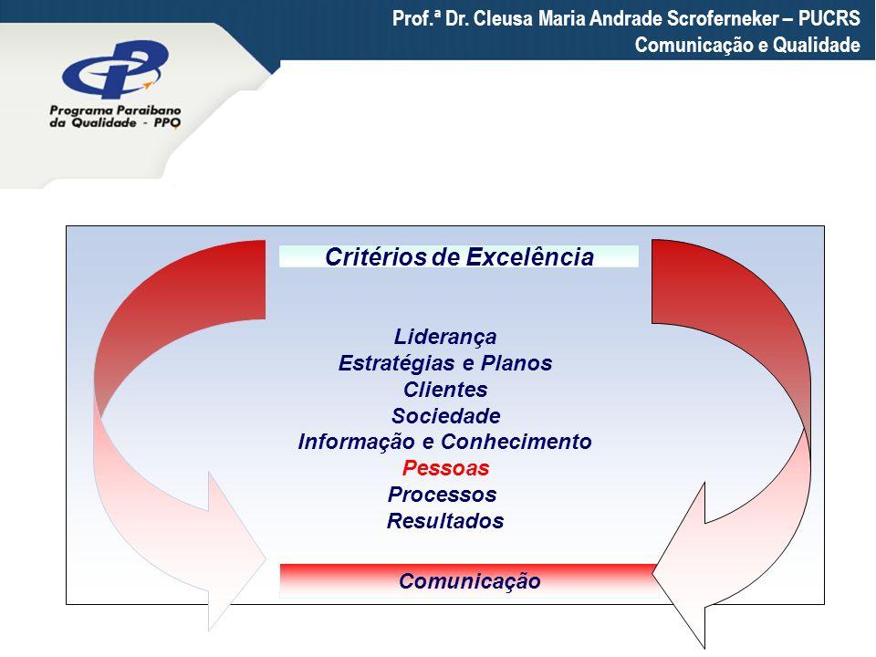 Informação e Conhecimento Critérios de Excelência