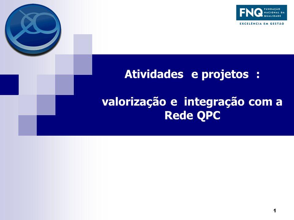 Atividades e projetos : valorização e integração com a Rede QPC