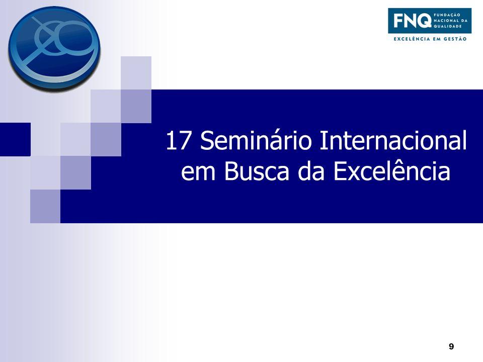 17 Seminário Internacional em Busca da Excelência