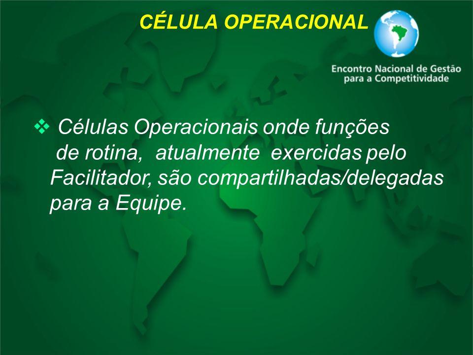 Células Operacionais onde funções de rotina, atualmente exercidas pelo