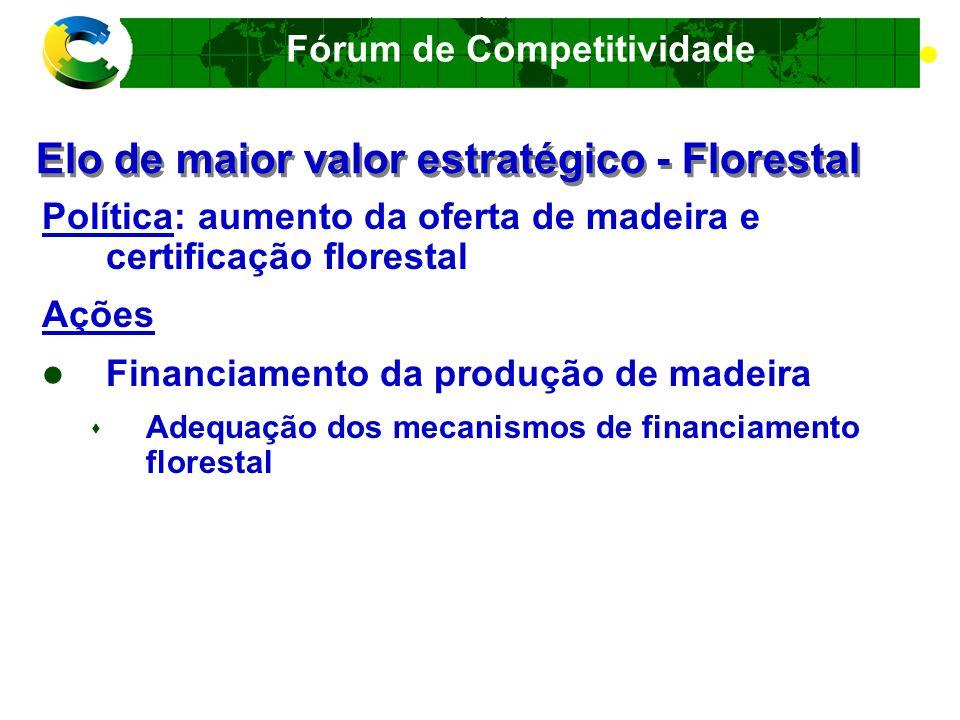 Elo de maior valor estratégico - Florestal