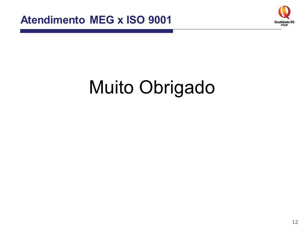 Atendimento MEG x ISO 9001 Muito Obrigado 12