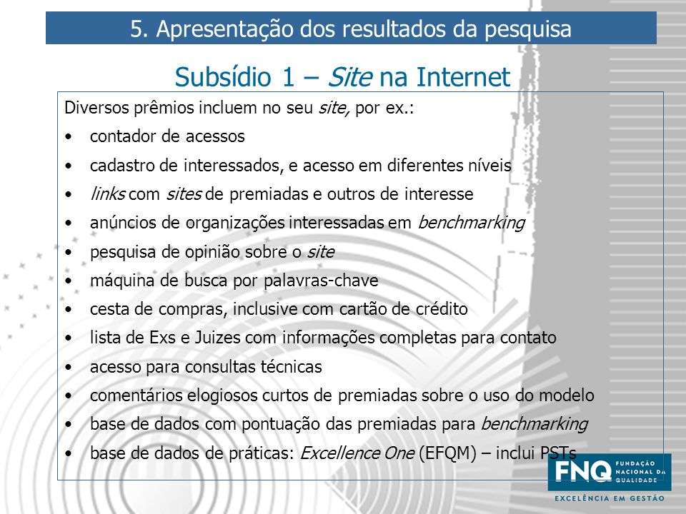 Subsídio 1 – Site na Internet