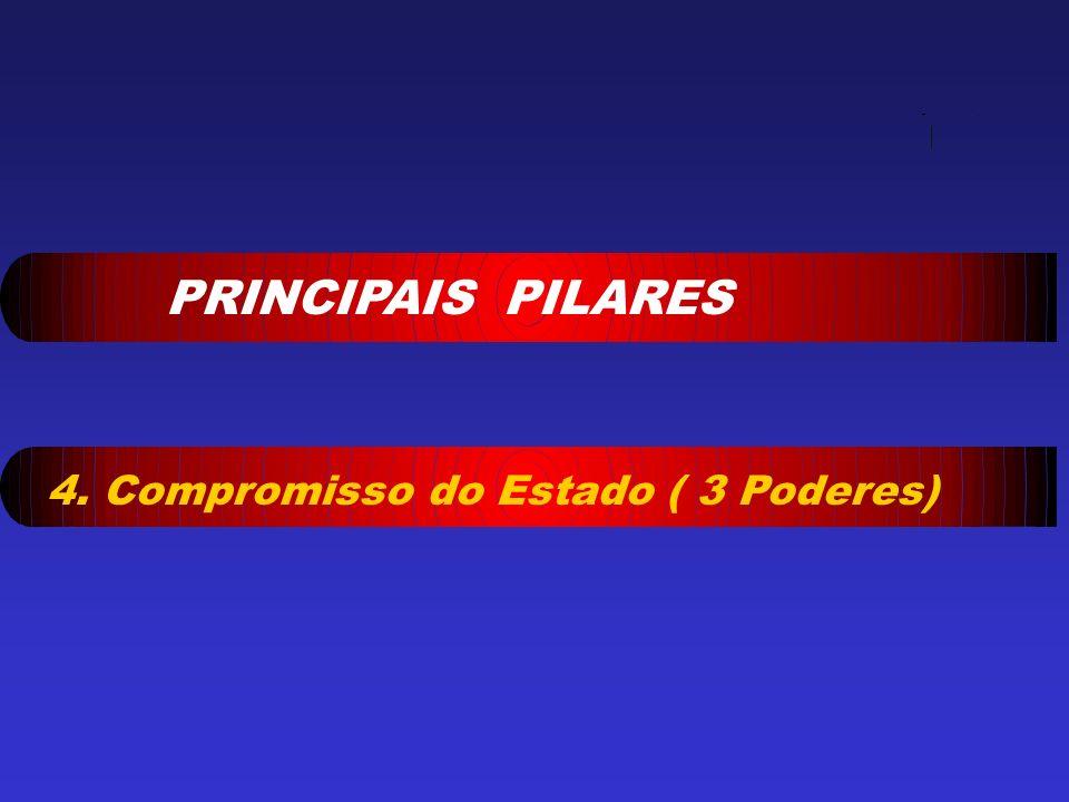 PRINCIPAIS PILARES 4. Compromisso do Estado ( 3 Poderes)
