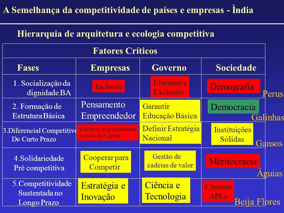 A Semelhança da competitividade de países e empresas - Ìndia