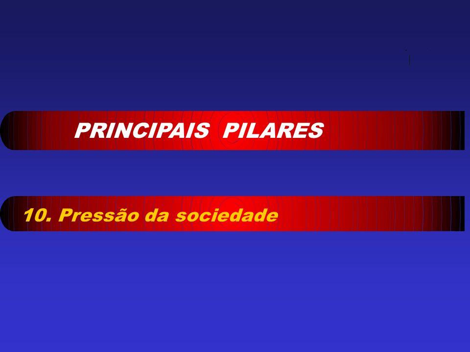 PRINCIPAIS PILARES 10. Pressão da sociedade