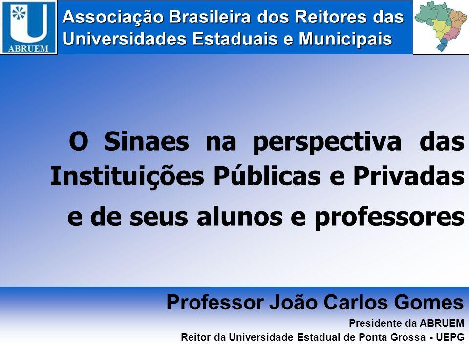 O Sinaes na perspectiva das Instituições Públicas e Privadas