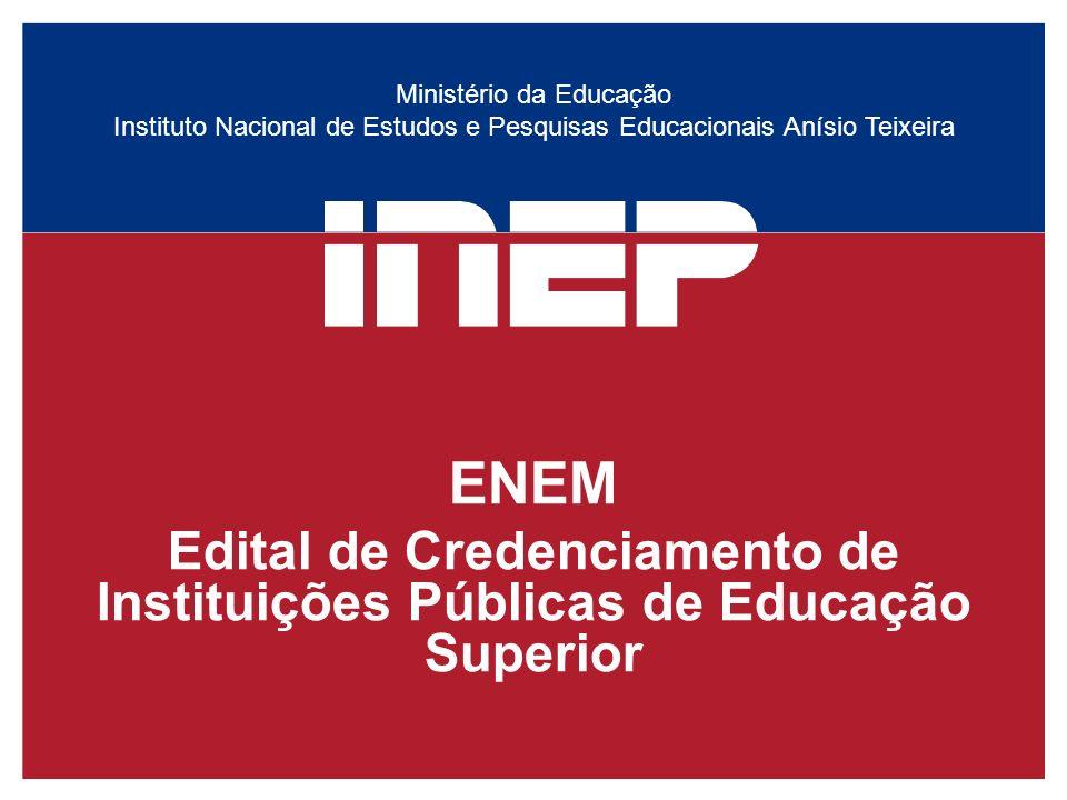 Edital de Credenciamento de Instituições Públicas de Educação Superior