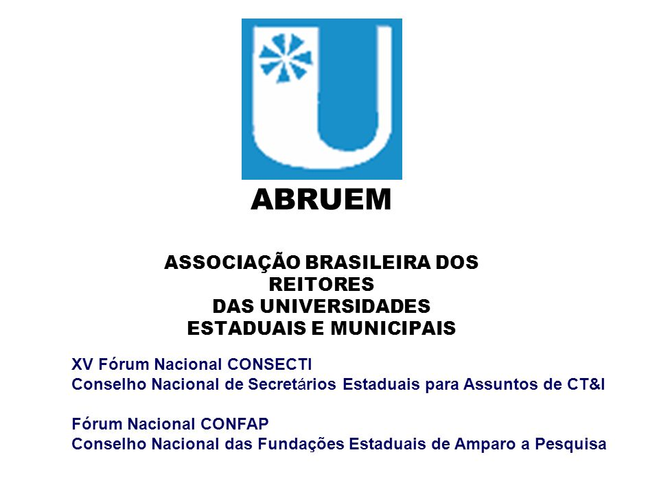 ASSOCIAÇÃO BRASILEIRA DOS ESTADUAIS E MUNICIPAIS