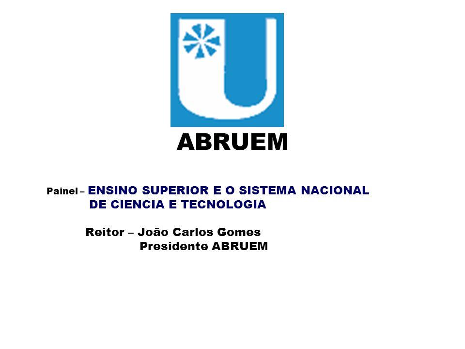 ABRUEM DE CIENCIA E TECNOLOGIA Reitor – João Carlos Gomes