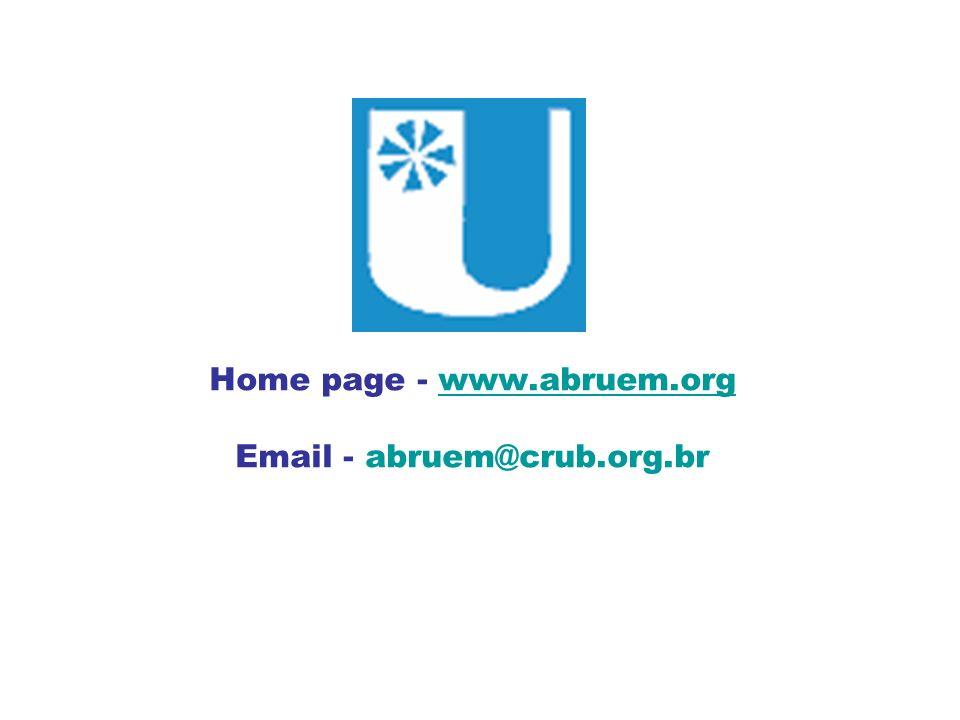 Home page - www.abruem.org Email - abruem@crub.org.br