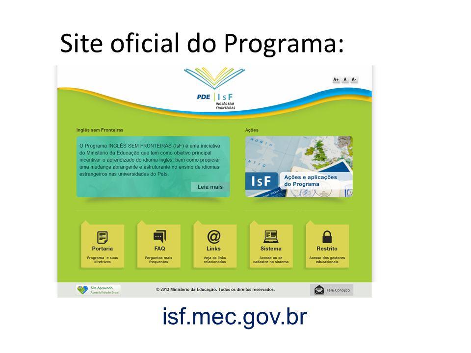Site oficial do Programa: