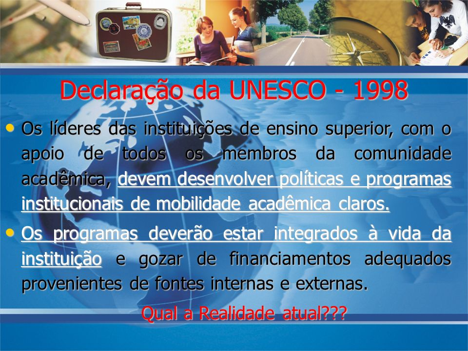 08/10/07 Declaração da UNESCO - 1998.