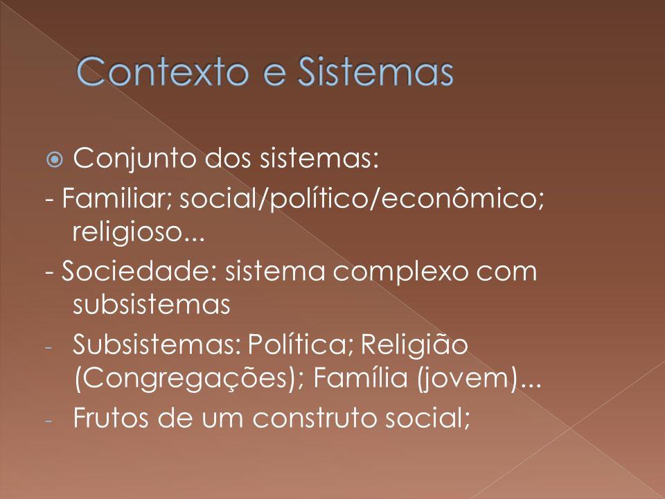 Contexto e Sistemas Conjunto dos sistemas: