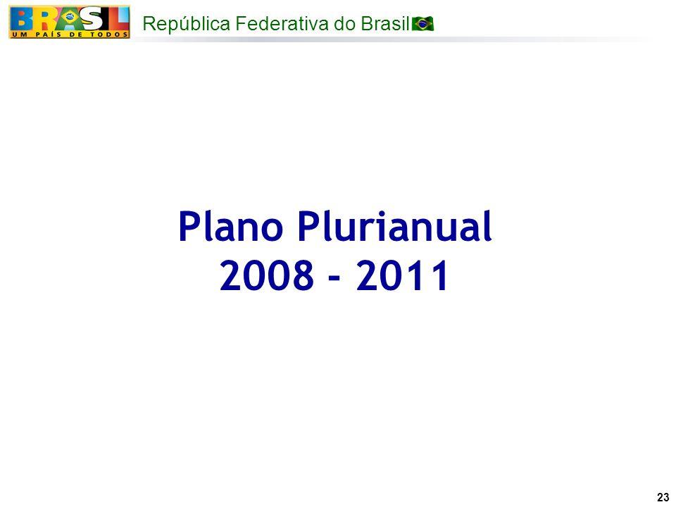 Plano Plurianual 2008 - 2011