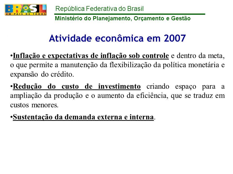 Atividade econômica em 2007