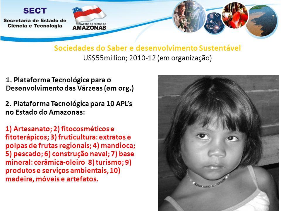 Sociedades do Saber e desenvolvimento Sustentável US$55million; 2010-12 (em organização)