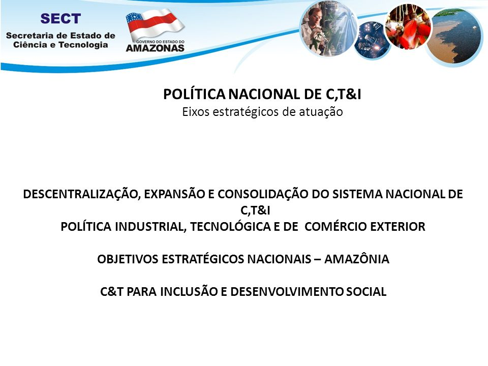 POLÍTICA NACIONAL DE C,T&I