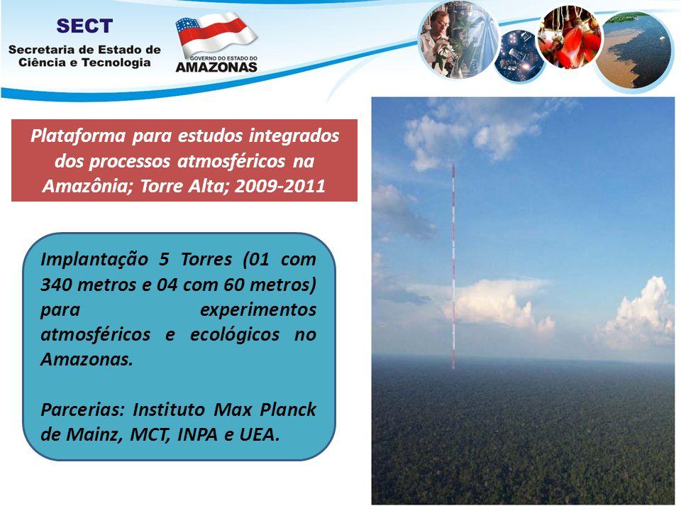 Plataforma para estudos integrados dos processos atmosféricos na Amazônia; Torre Alta; 2009-2011