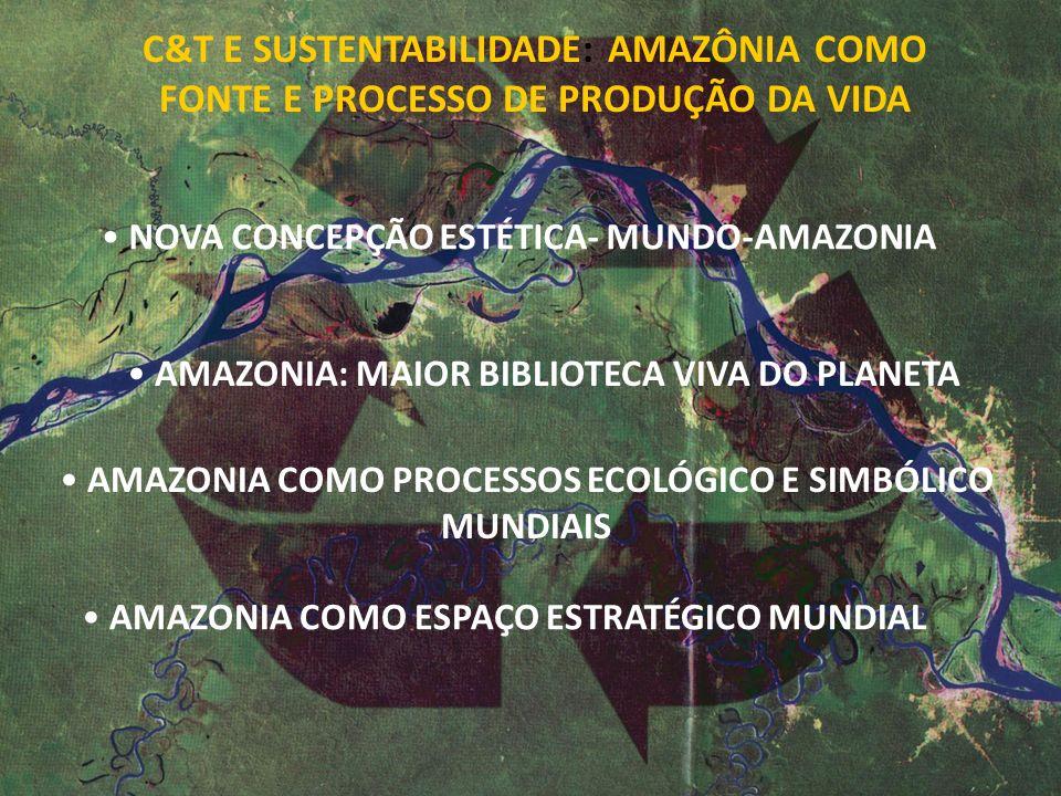 C&T E SUSTENTABILIDADE: AMAZÔNIA COMO FONTE E PROCESSO DE PRODUÇÃO DA VIDA