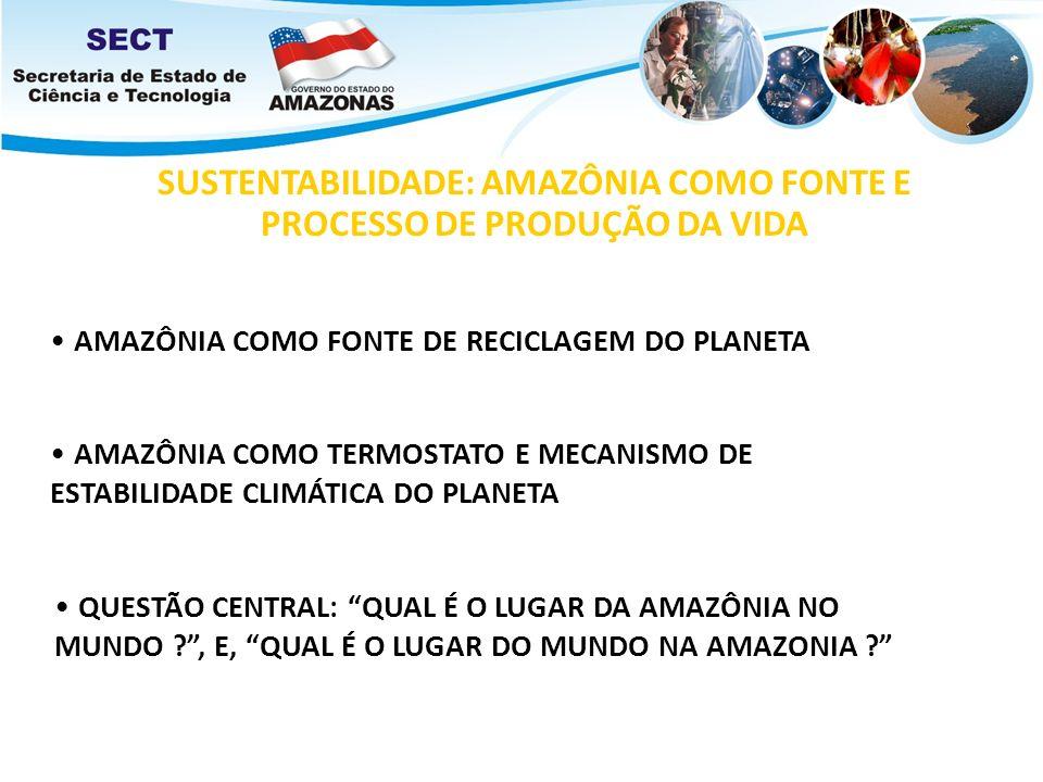 SUSTENTABILIDADE: AMAZÔNIA COMO FONTE E PROCESSO DE PRODUÇÃO DA VIDA