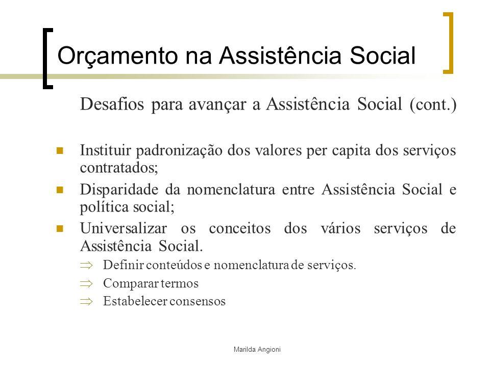 Orçamento na Assistência Social