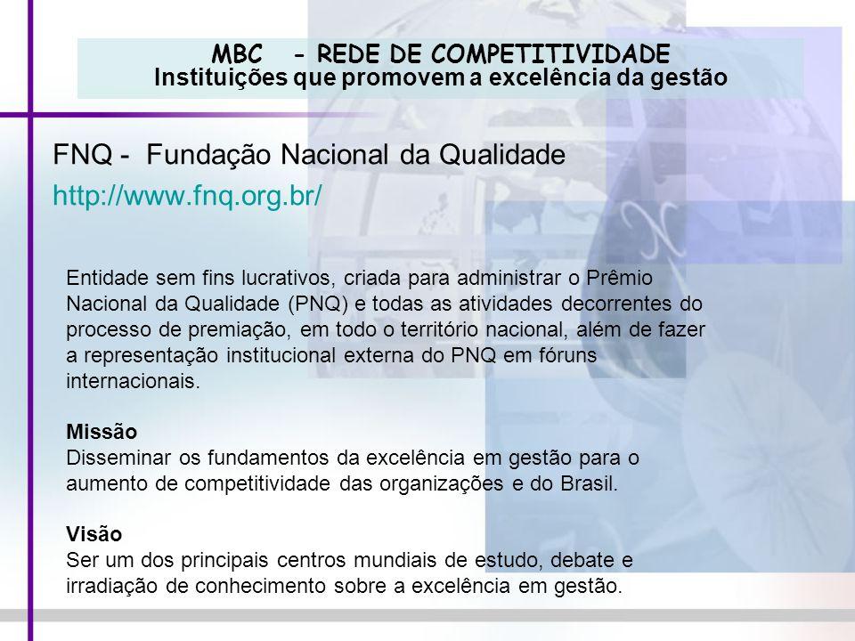 FNQ - Fundação Nacional da Qualidade http://www.fnq.org.br/