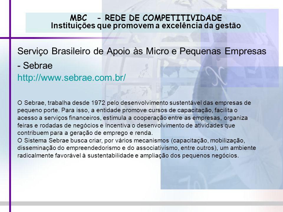 Serviço Brasileiro de Apoio às Micro e Pequenas Empresas - Sebrae