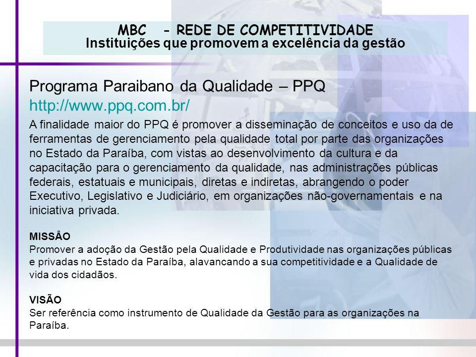 Programa Paraibano da Qualidade – PPQ http://www.ppq.com.br/