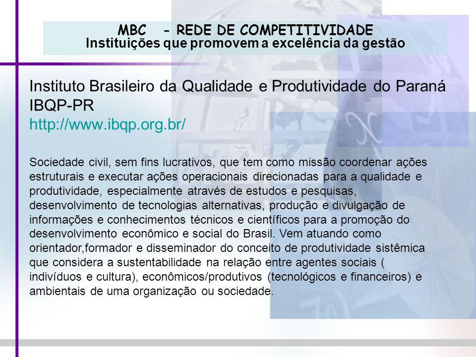 Instituto Brasileiro da Qualidade e Produtividade do Paraná IBQP-PR