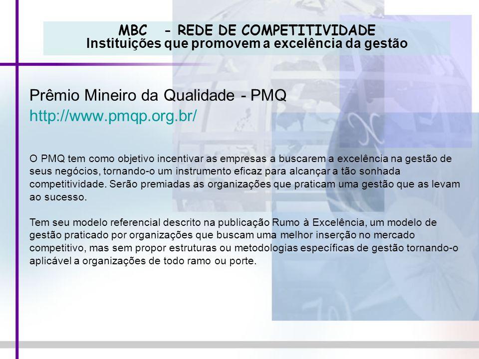 Prêmio Mineiro da Qualidade - PMQ http://www.pmqp.org.br/