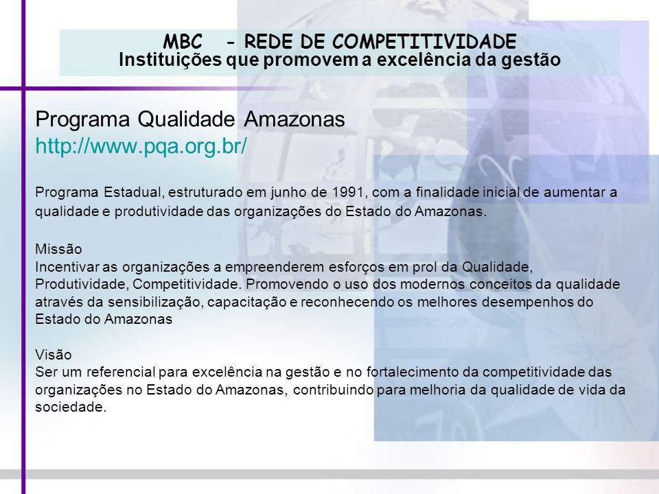 Programa Qualidade Amazonas http://www.pqa.org.br/