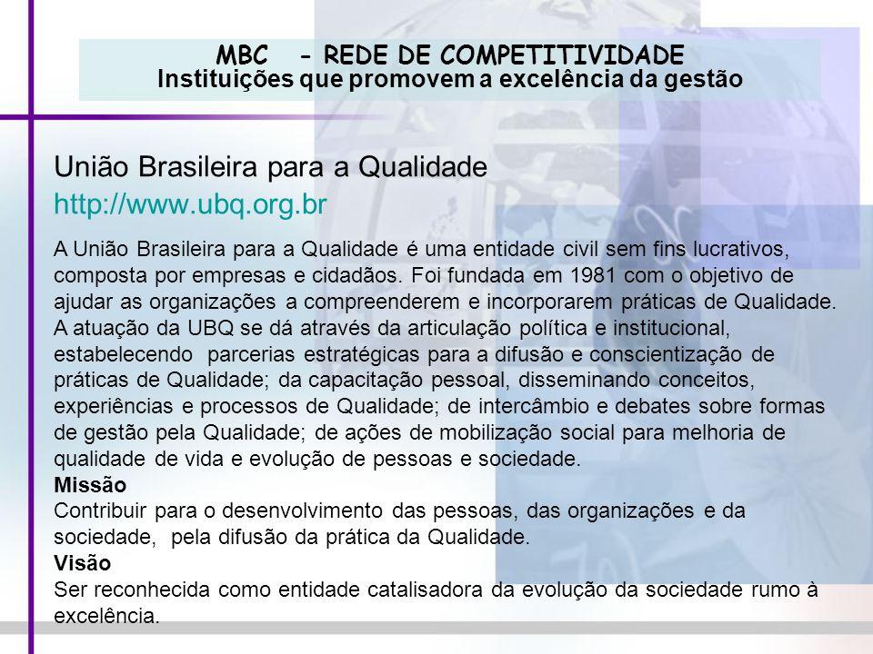 União Brasileira para a Qualidade http://www.ubq.org.br
