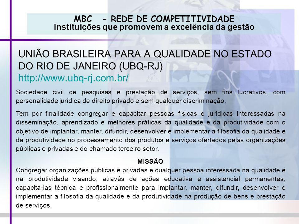 UNIÃO BRASILEIRA PARA A QUALIDADE NO ESTADO DO RIO DE JANEIRO (UBQ-RJ)