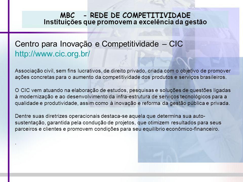 Centro para Inovação e Competitividade – CIC http://www.cic.org.br/