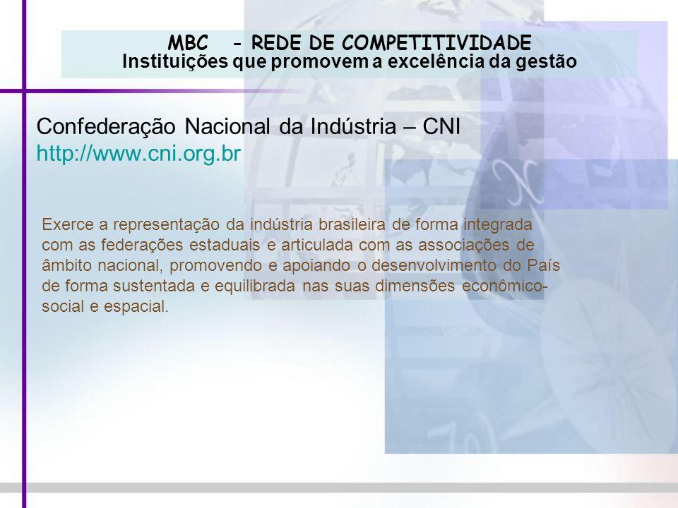 Confederação Nacional da Indústria – CNI http://www.cni.org.br