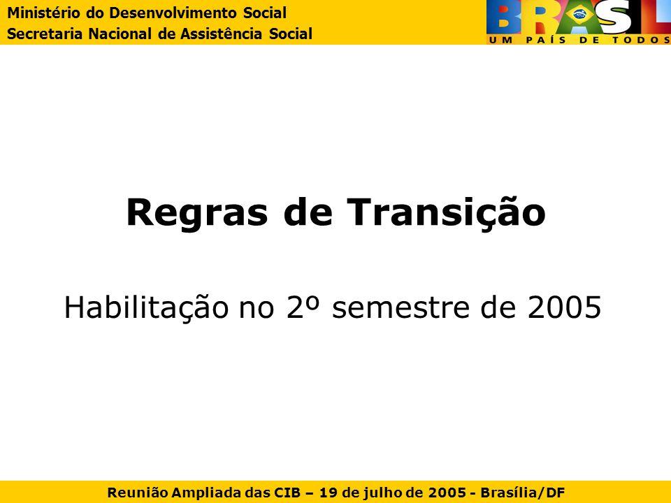 Habilitação no 2º semestre de 2005