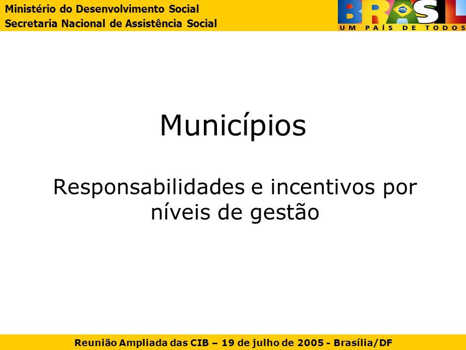 Responsabilidades e incentivos por níveis de gestão