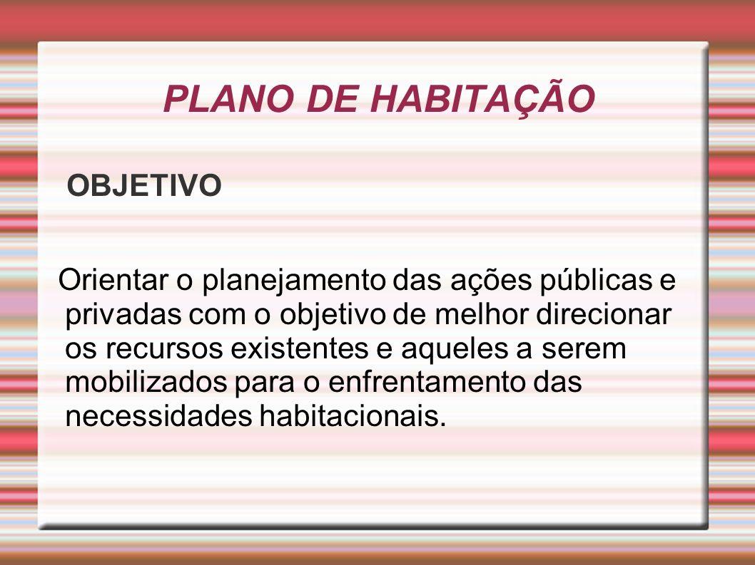 PLANO DE HABITAÇÃO OBJETIVO