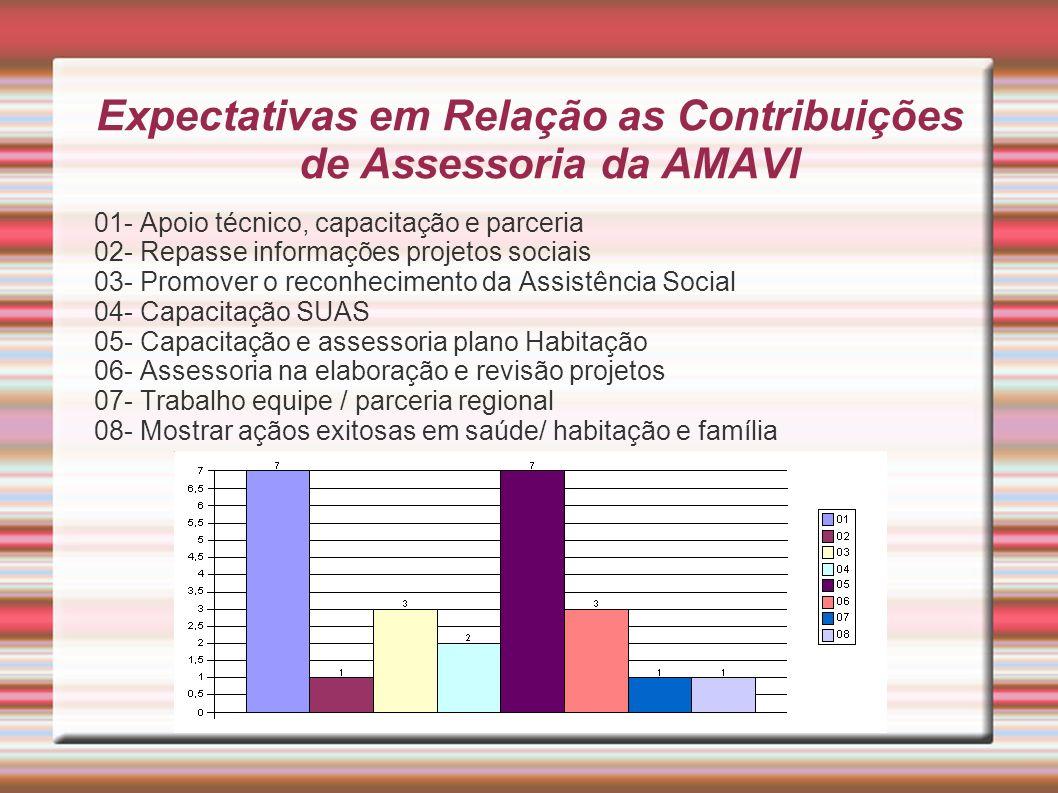 Expectativas em Relação as Contribuições de Assessoria da AMAVI