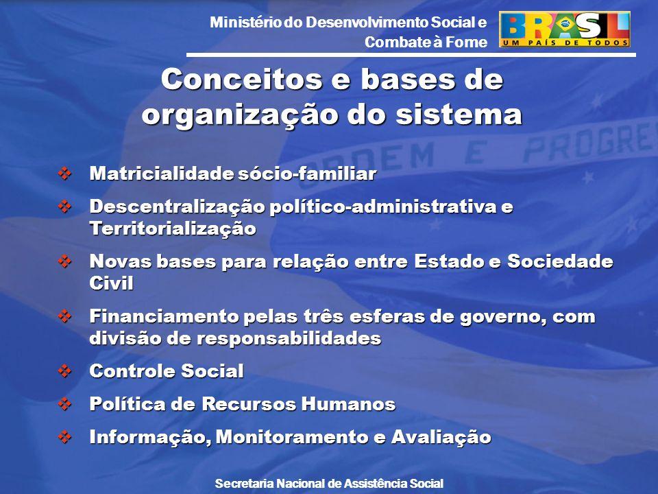 Conceitos e bases de organização do sistema
