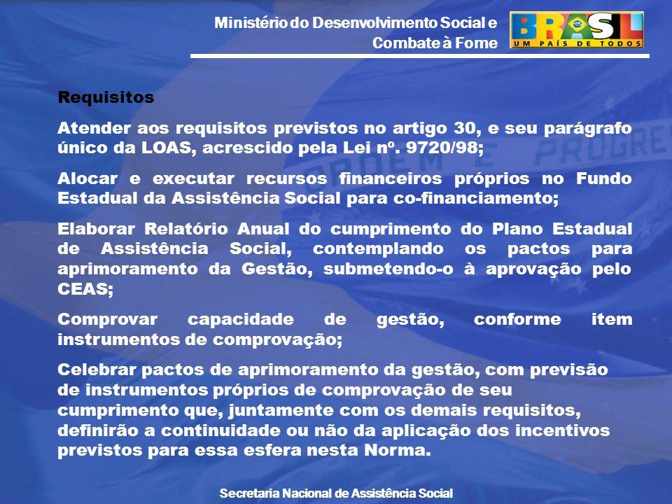Requisitos Atender aos requisitos previstos no artigo 30, e seu parágrafo único da LOAS, acrescido pela Lei nº. 9720/98;