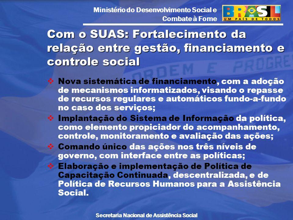 Com o SUAS: Fortalecimento da relação entre gestão, financiamento e controle social