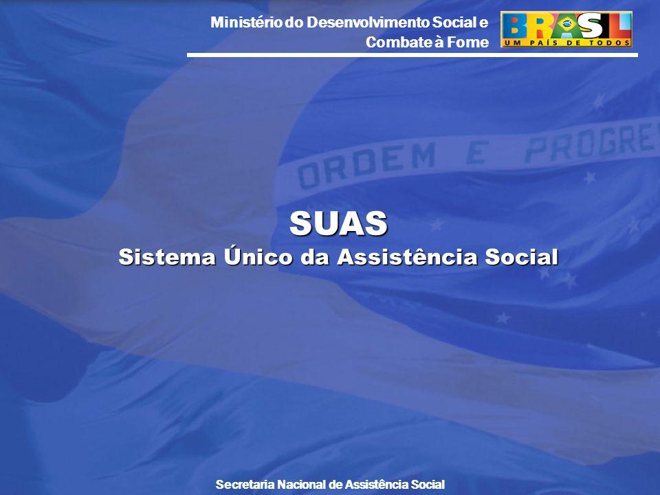 SUAS Sistema Único da Assistência Social