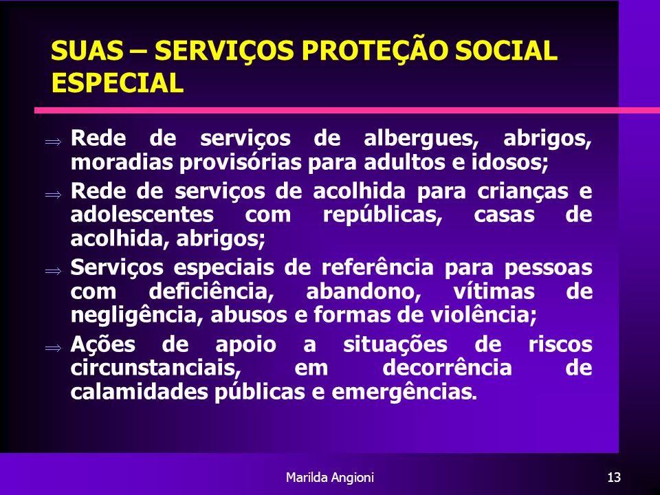 SUAS – SERVIÇOS PROTEÇÃO SOCIAL ESPECIAL