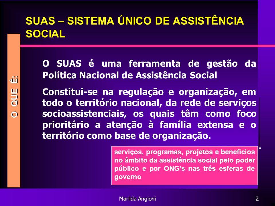 SUAS – SISTEMA ÚNICO DE ASSISTÊNCIA SOCIAL