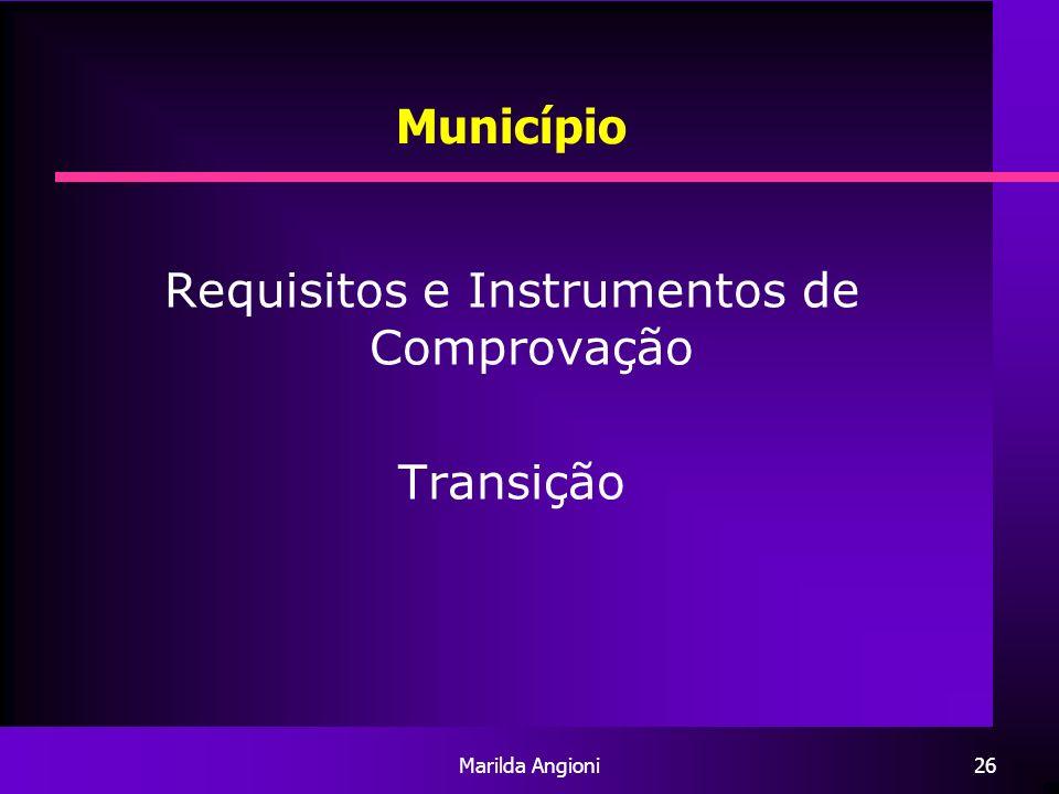 Requisitos e Instrumentos de Comprovação
