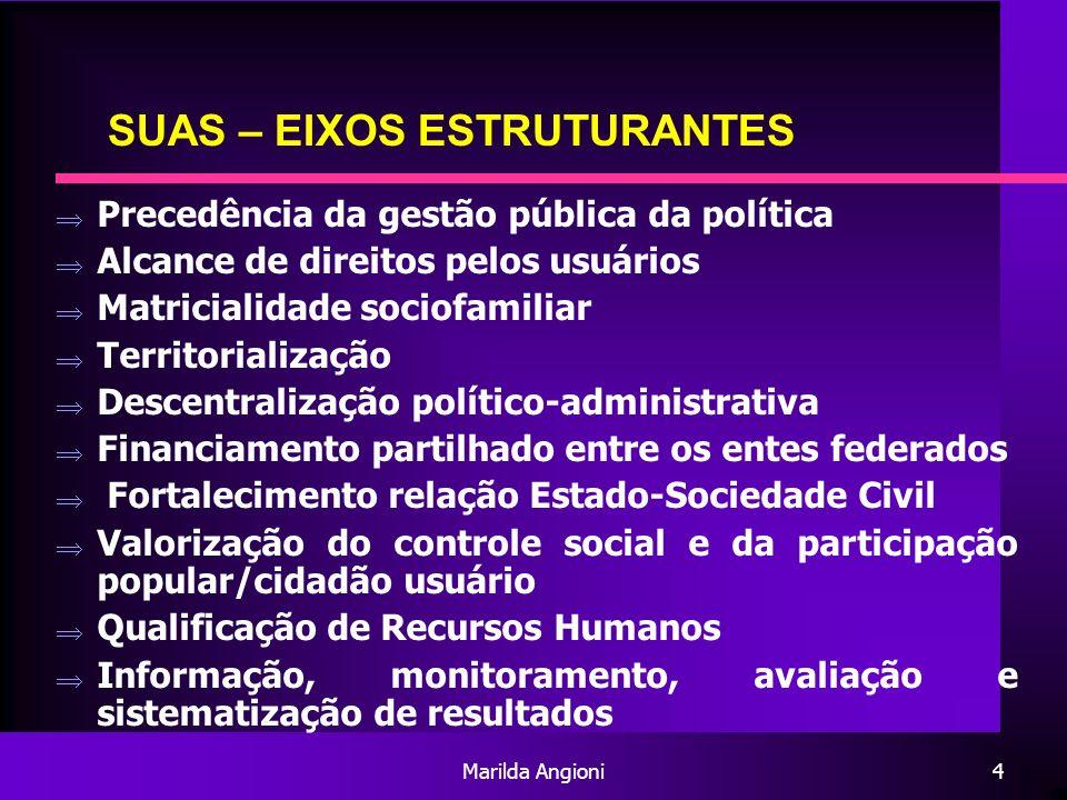 SUAS – EIXOS ESTRUTURANTES