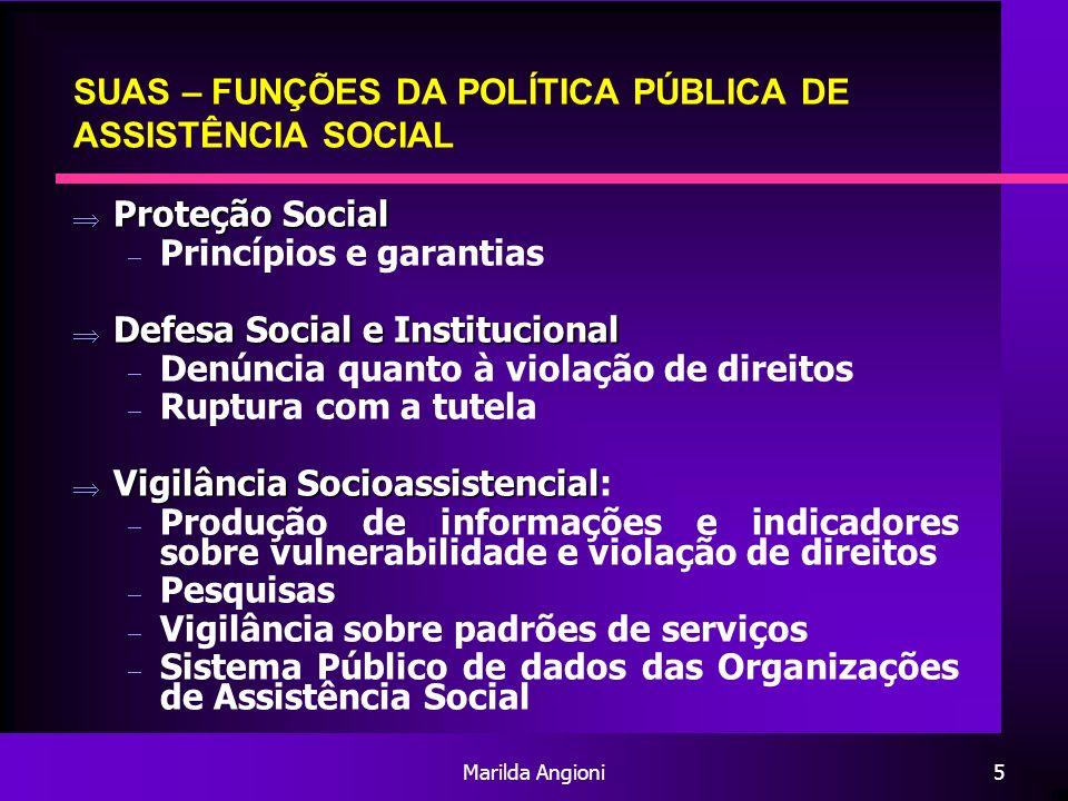 SUAS – FUNÇÕES DA POLÍTICA PÚBLICA DE ASSISTÊNCIA SOCIAL