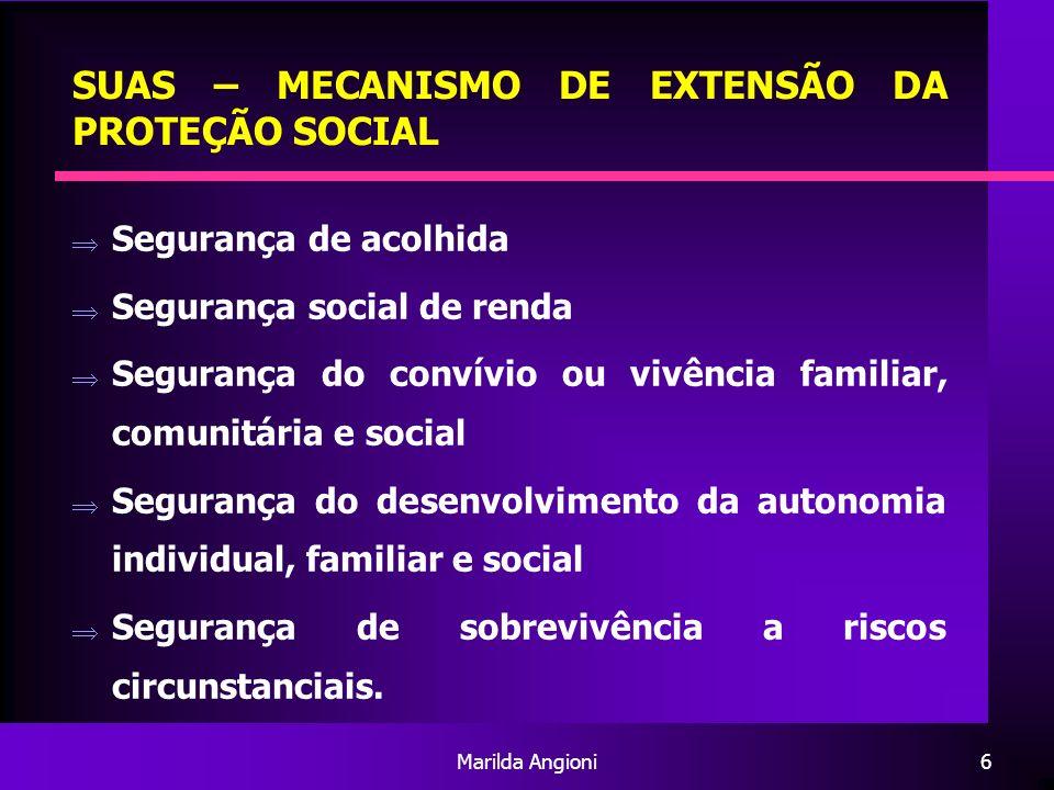 SUAS – MECANISMO DE EXTENSÃO DA PROTEÇÃO SOCIAL